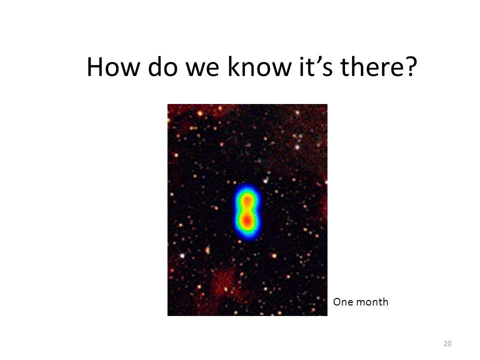 20 How do we know it's there? Movie courtesy of R. Spencer, S. Garrington, D. McKay, T. Muxlow, P. Thomasson, C. de la Force, A. M. Stirling (Universi