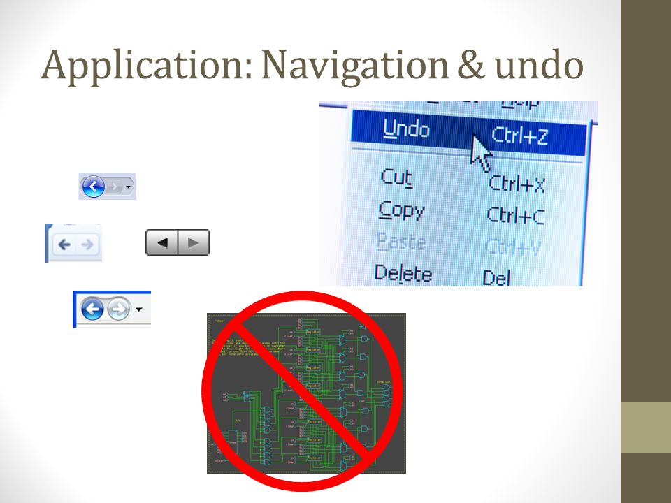 Application: Navigation & undo