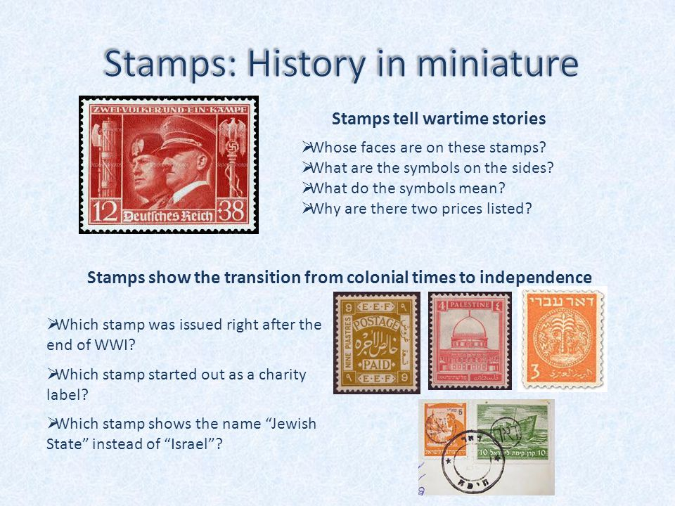  Whose faces are on these stamps.  What are the symbols on the sides.