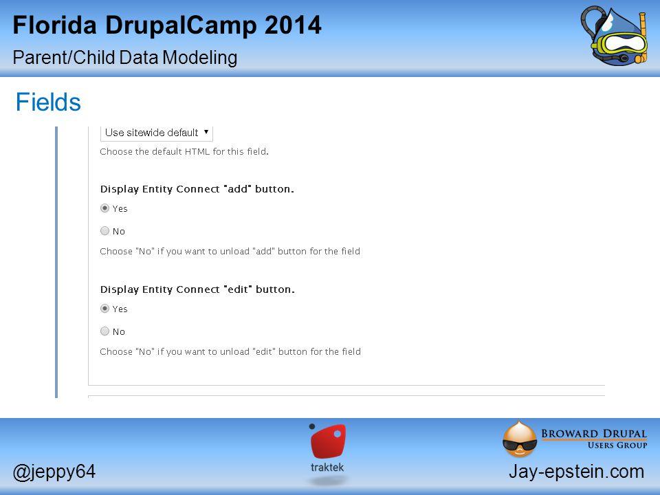 Parent/Child Data Modeling @jeppy64Jay-epstein.com Florida DrupalCamp 2014 Fields
