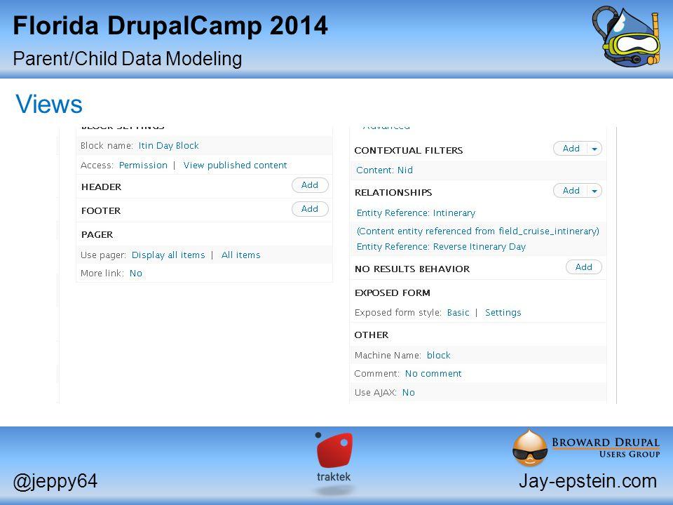 Parent/Child Data Modeling @jeppy64Jay-epstein.com Florida DrupalCamp 2014 Views