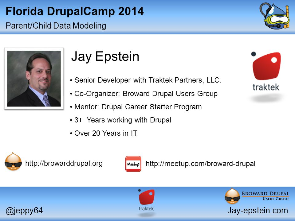 Parent/Child Data Modeling @jeppy64Jay-epstein.com Senior Developer with Traktek Partners, LLC.