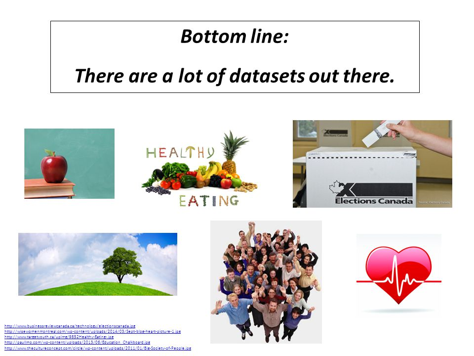 Bottom line: There are a lot of datasets out there.