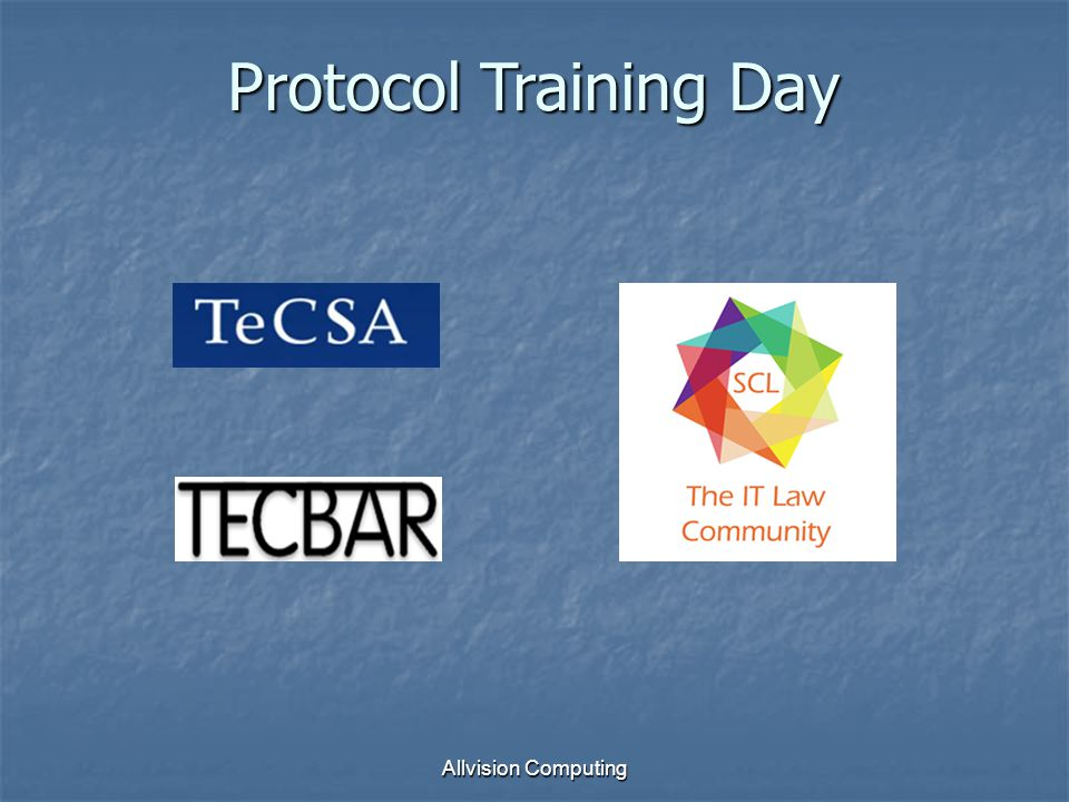 Allvision Computing Protocol Training Day