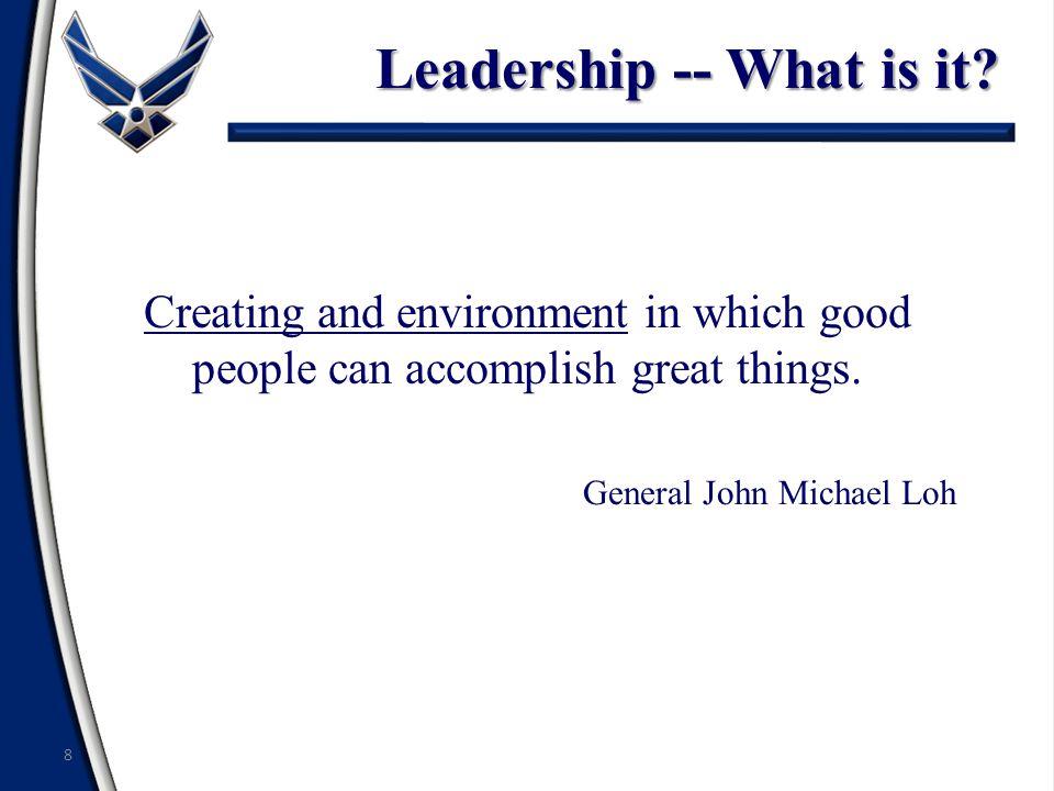 Summary Leadership Defined Traits of Effective Leaders Responsibilities of Effective Leaders Preview of Leadership Topics 19