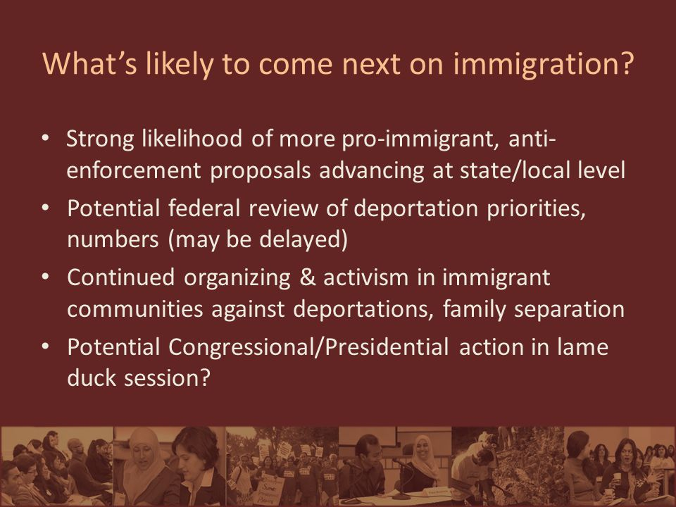 What's likely to come next on immigration.