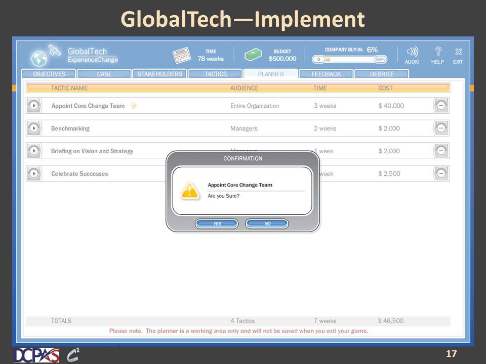 GlobalTech—Implement 17