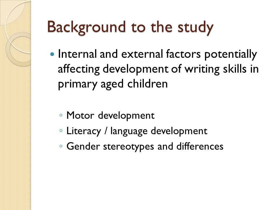 Points for further consideration How 'boy friendly' are pre-writing and writing activities.