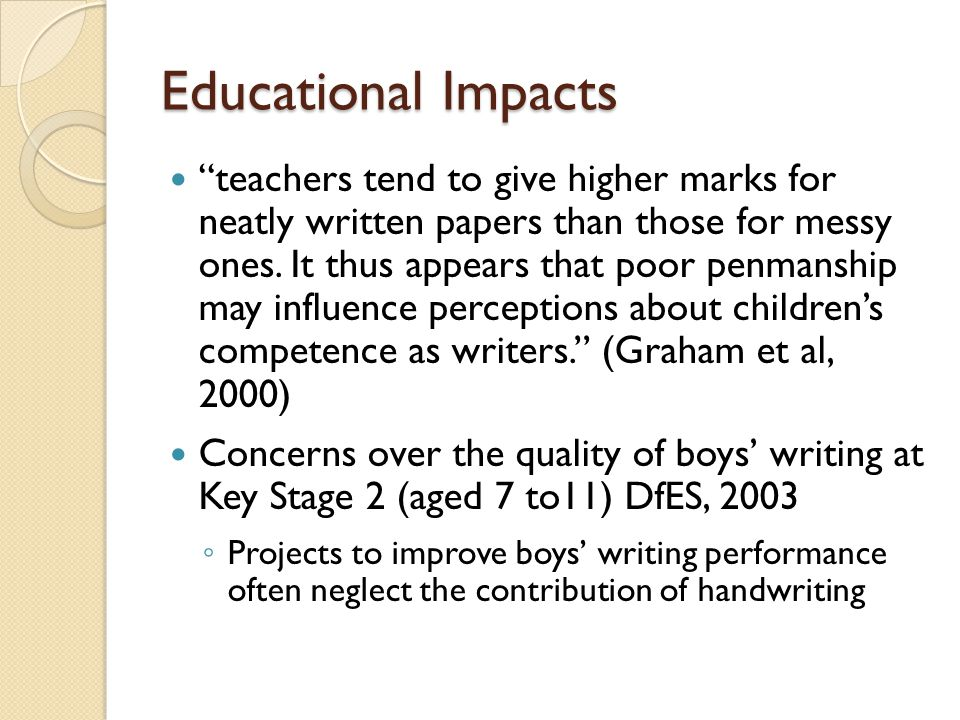 Aims of the study To investigate potential gender differences in ◦ speed ◦ readability of handwriting - And the relationship of these with reading and spelling skills