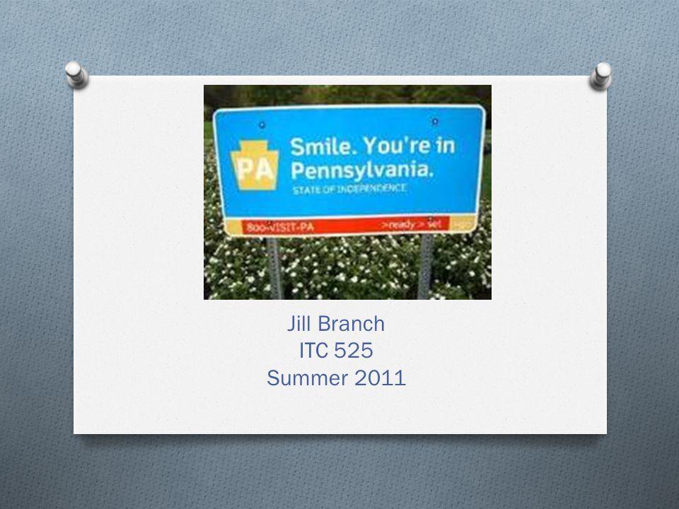 Jill Branch ITC 525 Summer 2011
