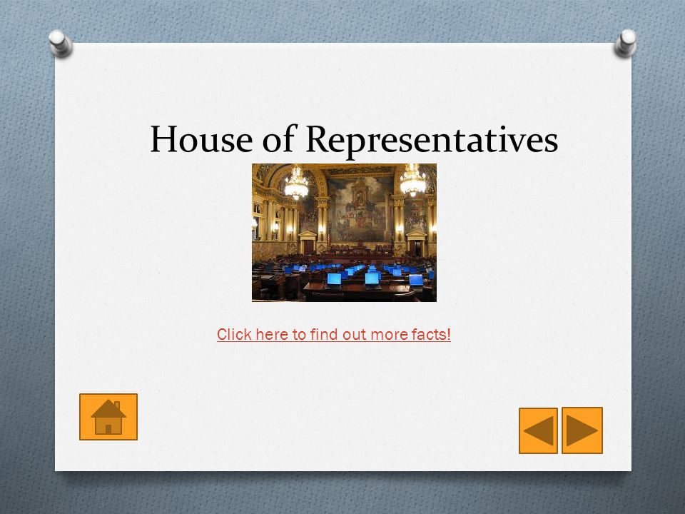 House of Representatives Click here to find out more facts!