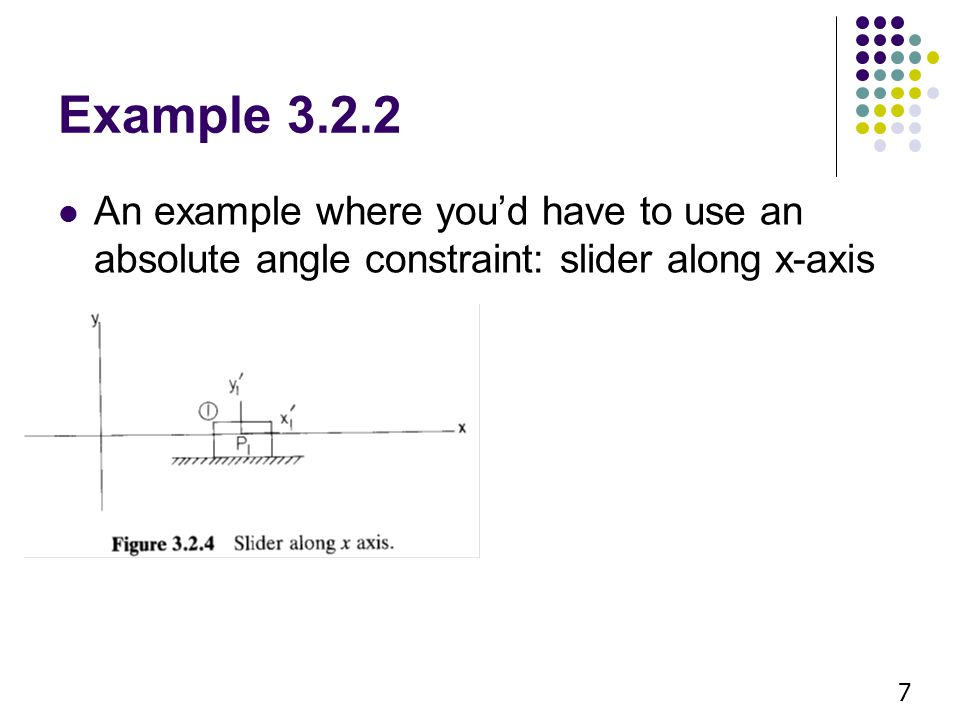 Moving on to relative constraints (section 3.3) 8