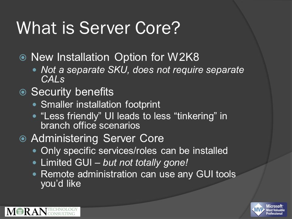 What is Server Core.