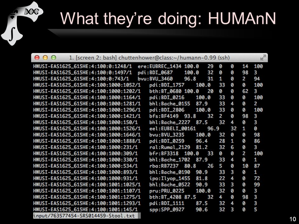 What they're doing: HUMAnN 10