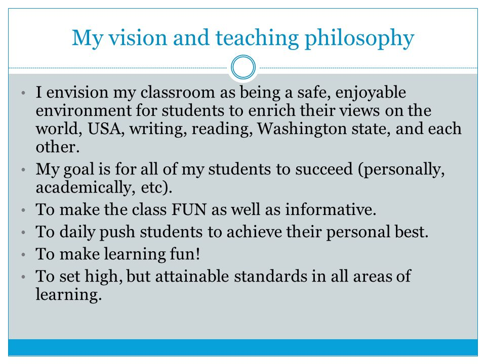Why do we have High Standards.16 years of teaching students who were able to work at this level.