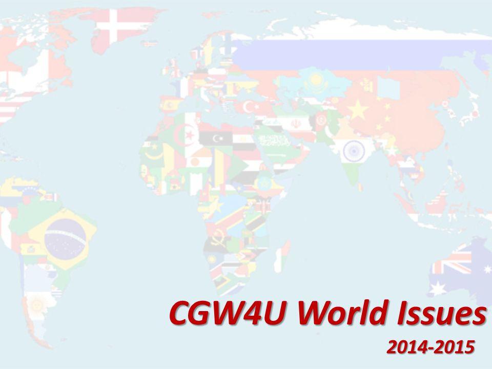 CGW4U World Issues 2014-2015