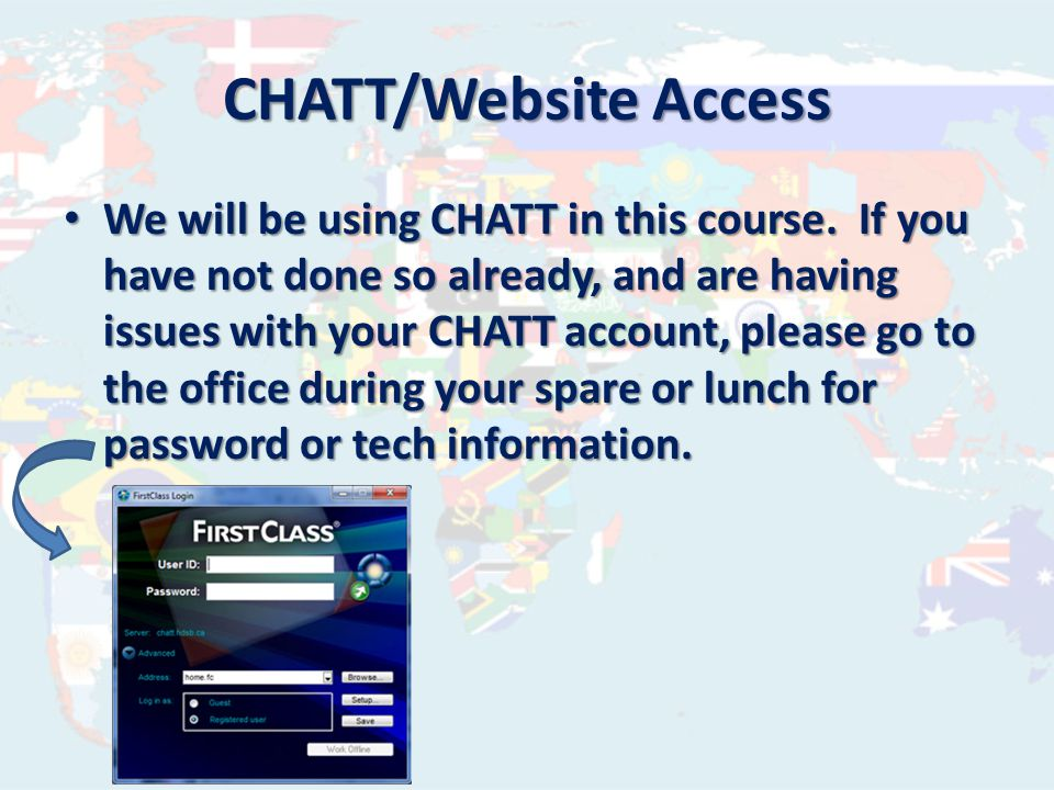 www.chatt.hdsb.ca/~brockja As much information as possible will be posted to a course website.