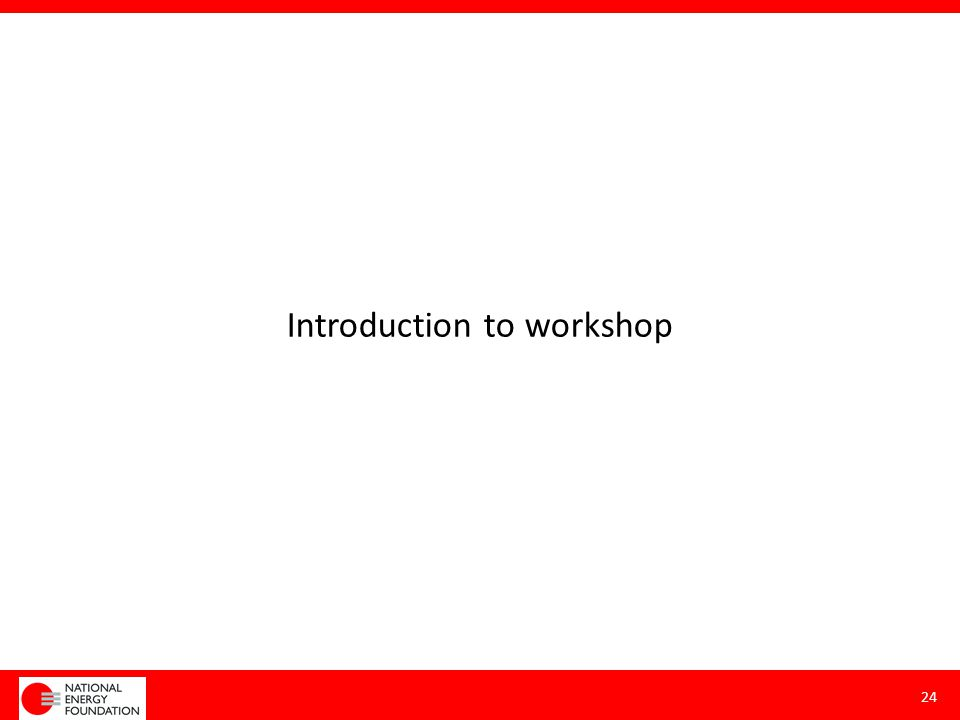 Introduction to workshop 24