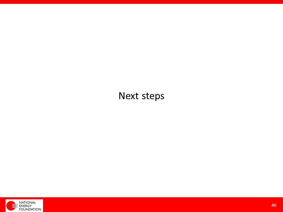 Next steps 40