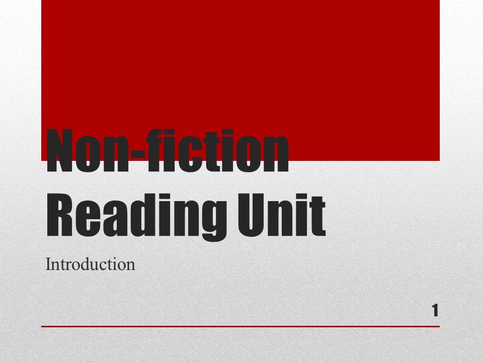 Non-fiction Reading Unit Introduction 1
