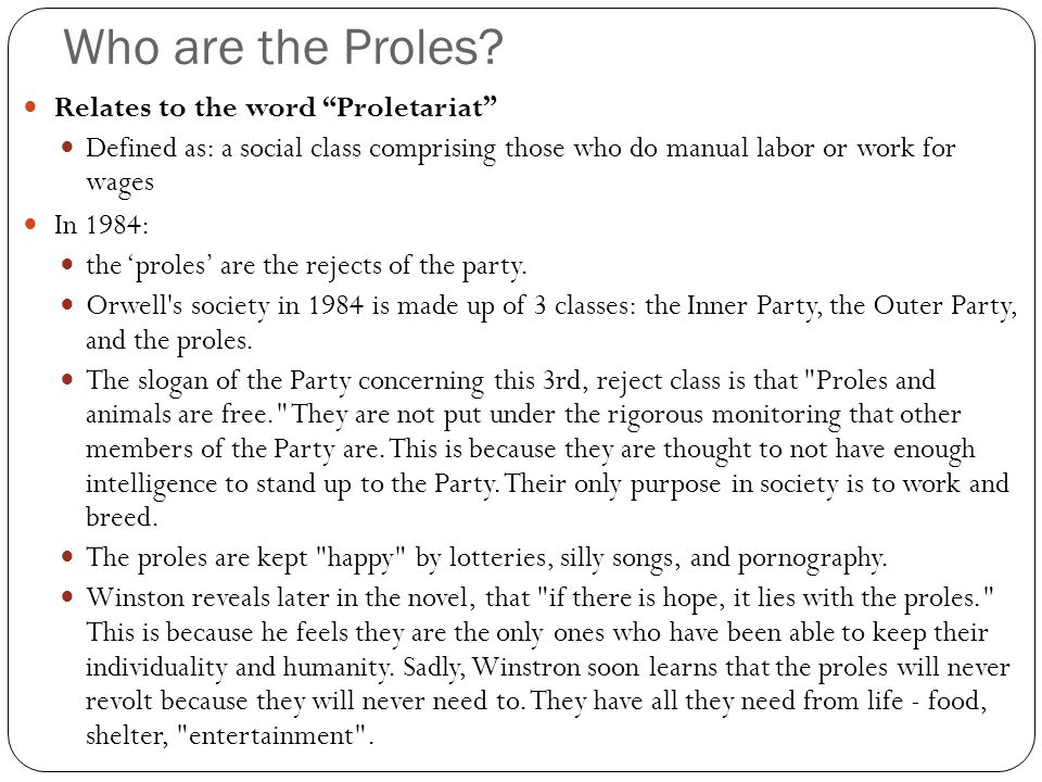 Who are the Proles.