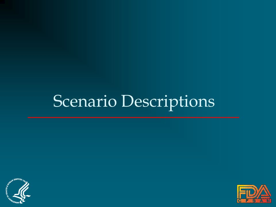 Scenario Descriptions