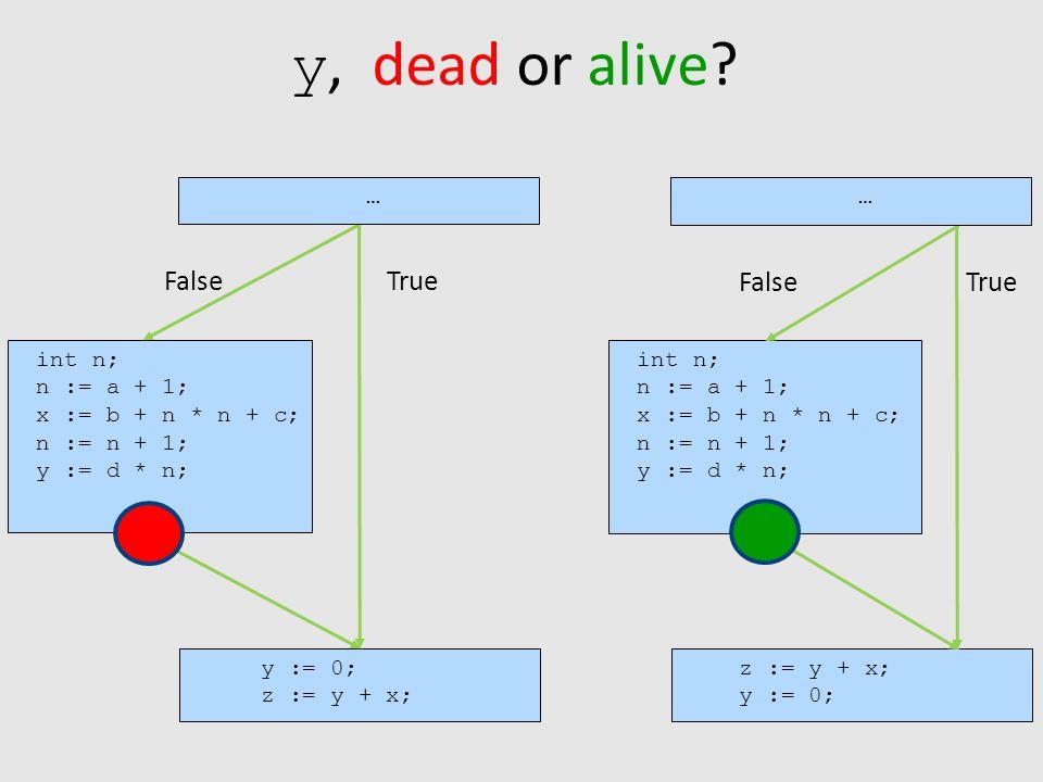 y, dead or alive.