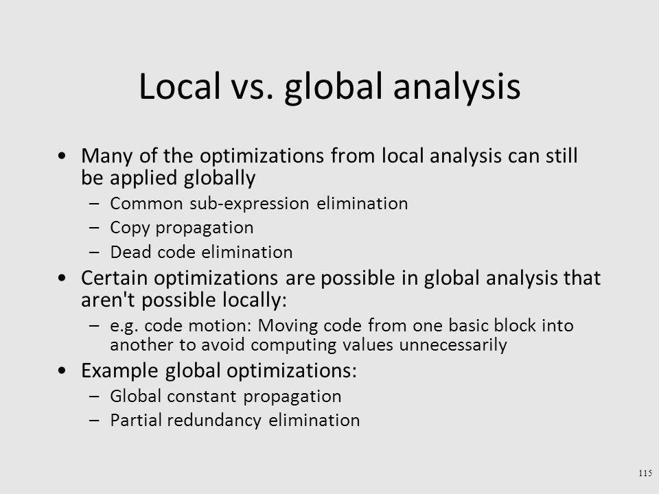 Local vs.