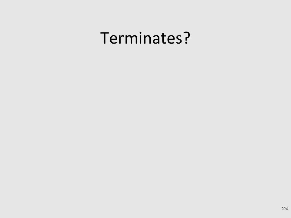 Terminates 220