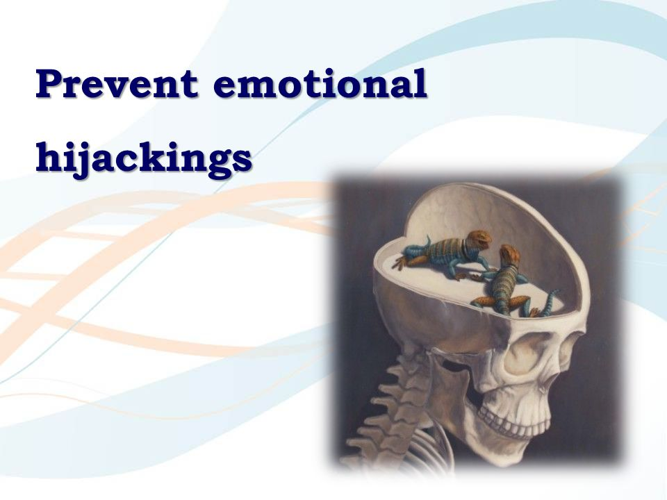 Prevent emotional hijackings