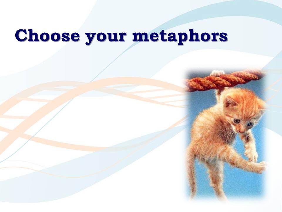 Choose your metaphors