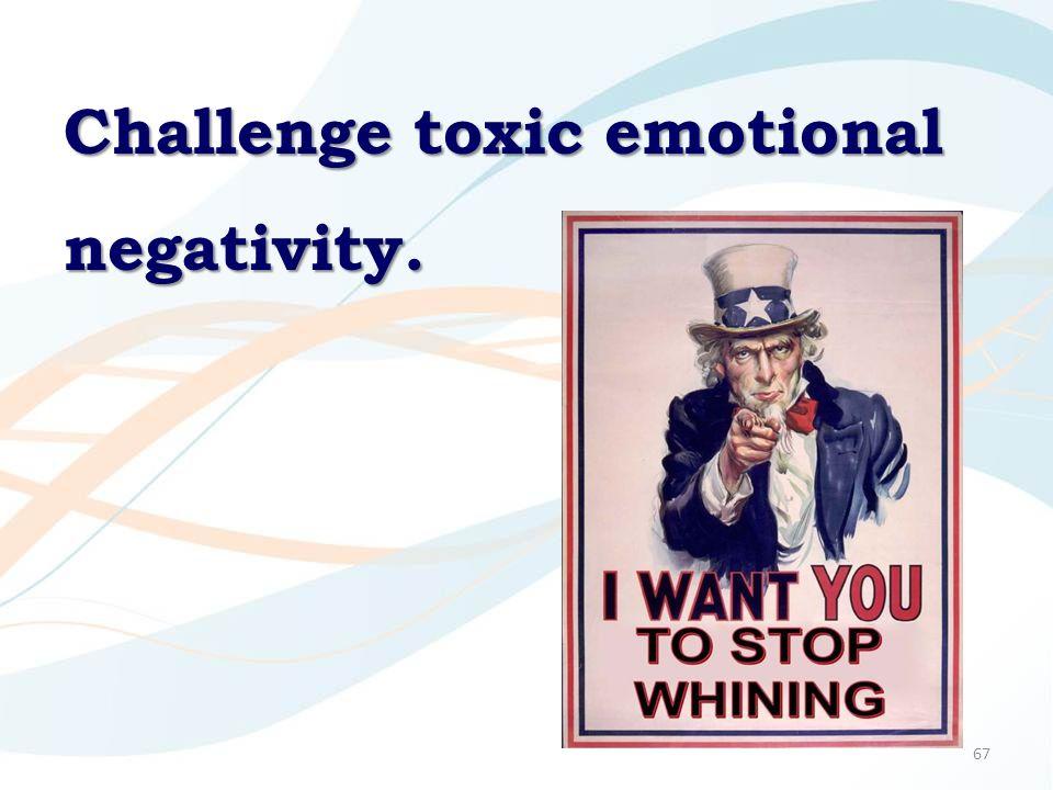67 Challenge toxic emotional negativity.