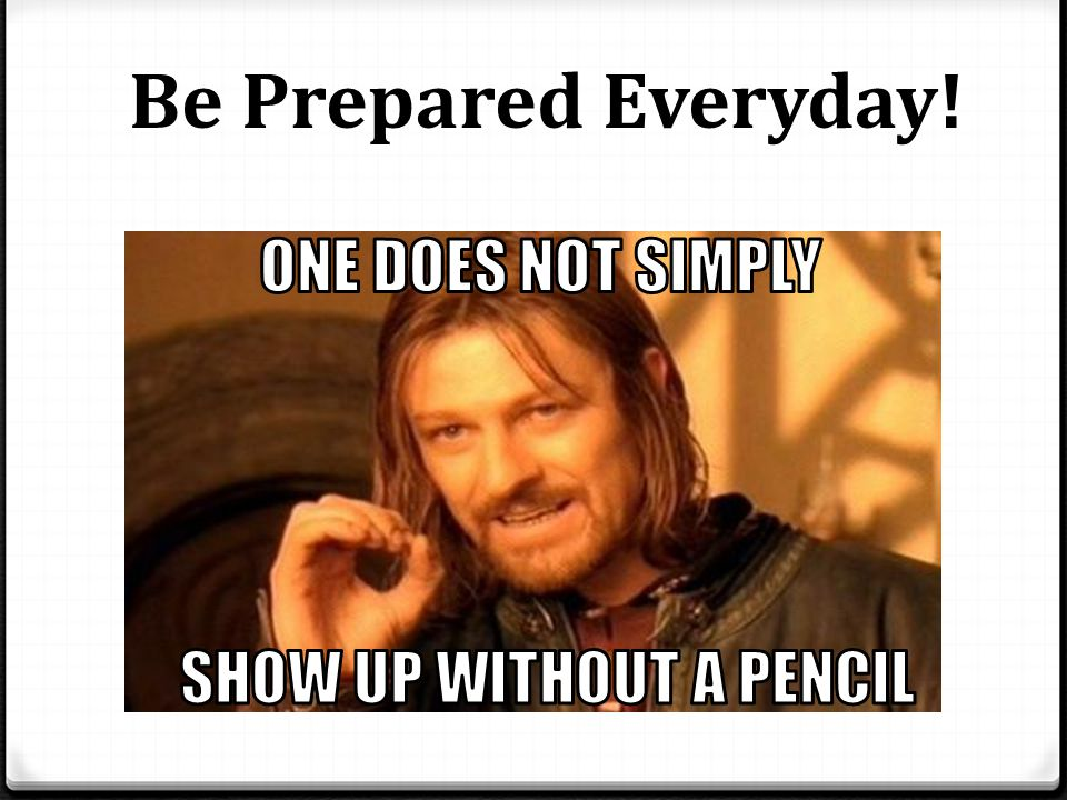 Participate in class and put in your best effort!