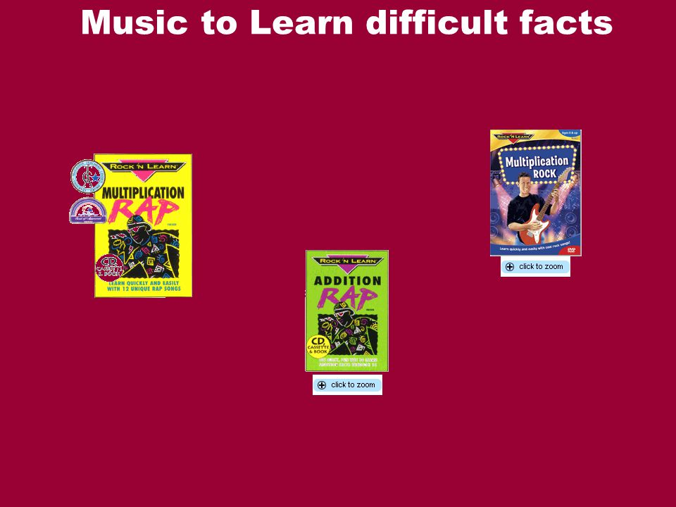 Music to Learn difficult facts