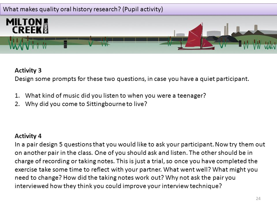 What makes quality oral history research.