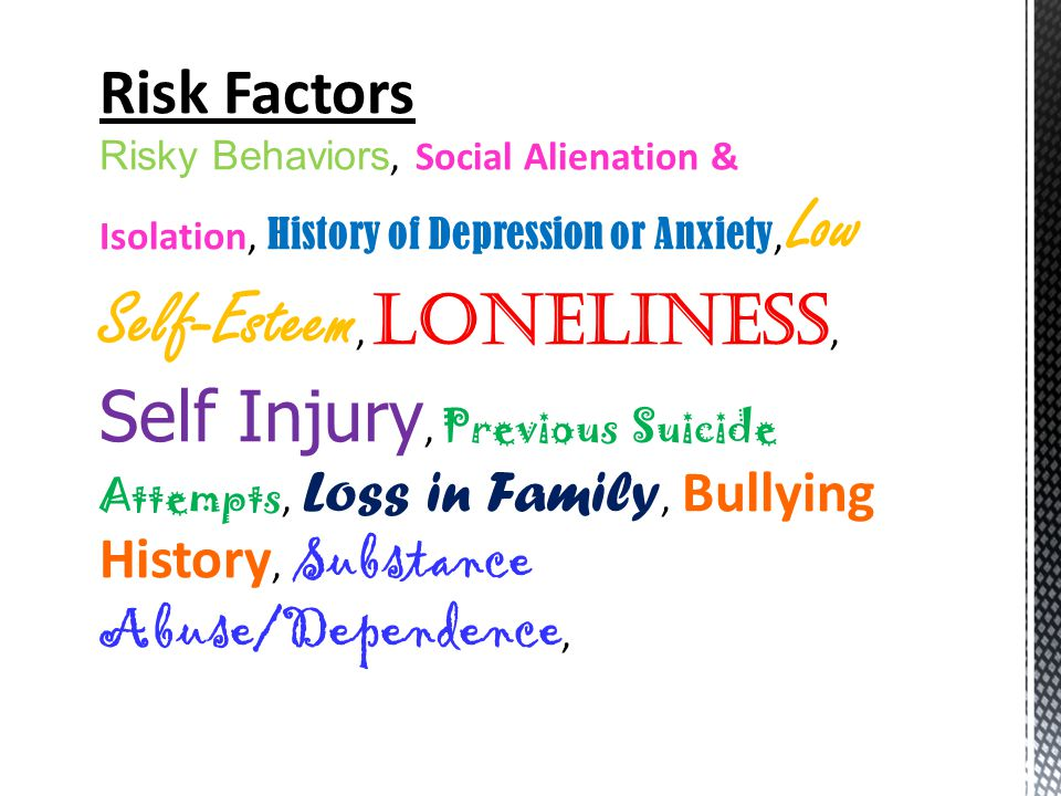  Make sure you tell a trusted adult (a teacher, principal, guidance counselor, etc.) that you or a friend are considering suicide as a solution to their problems.