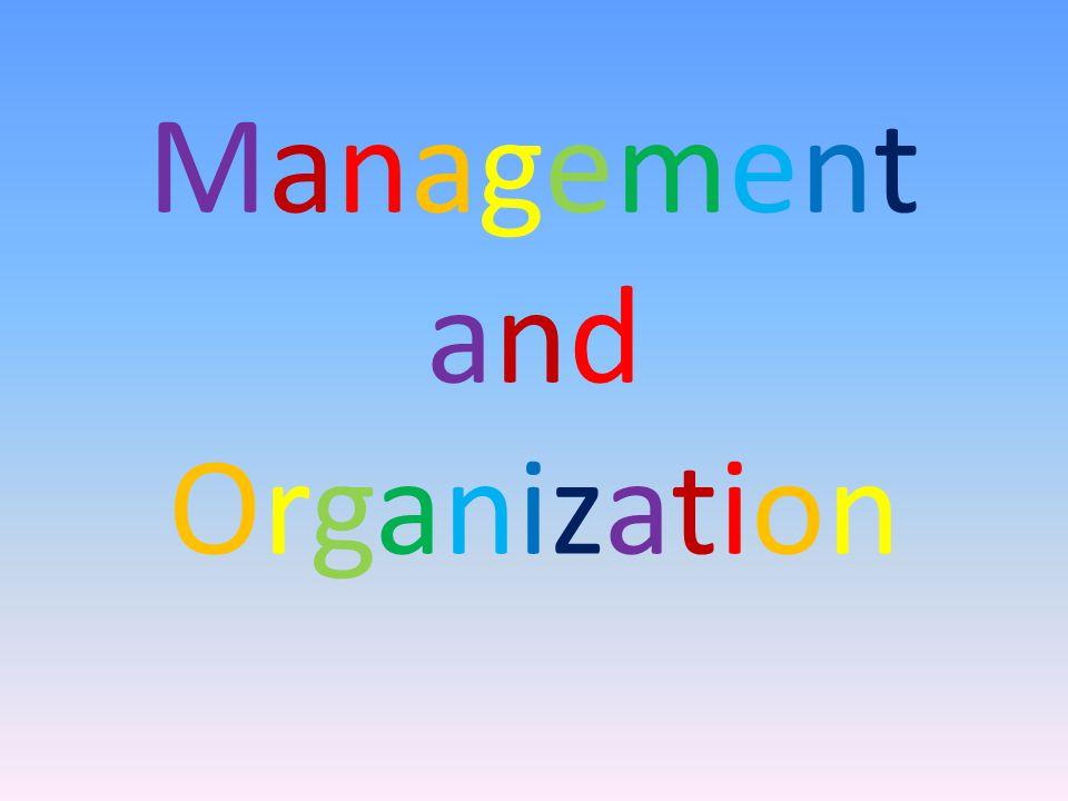 ManagementandOrganizationManagementandOrganization