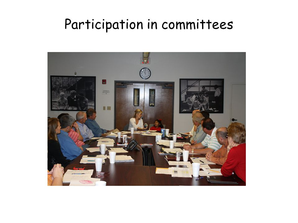 Participation in committees