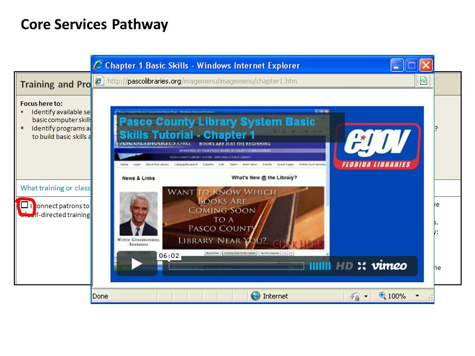Core Services Pathway