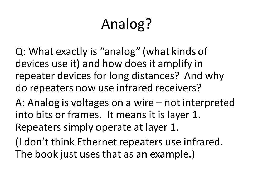 Analog.