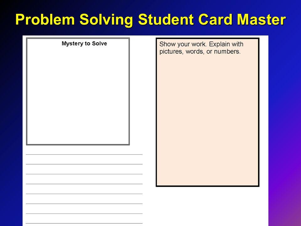 Problem Solving Student Card Master
