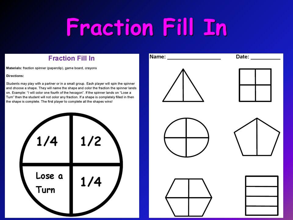 Fraction Fill In