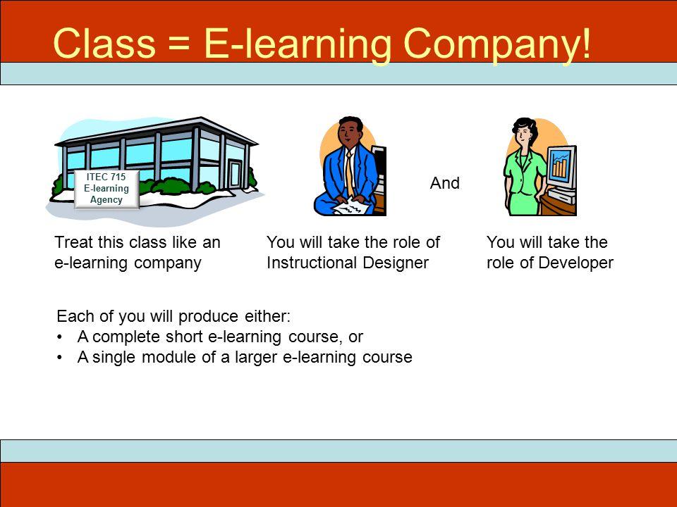 ITEC 715 Class = E-learning Company.