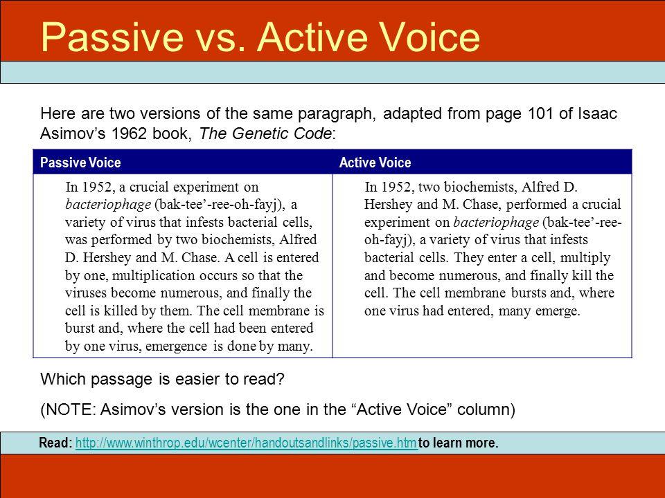 Passive vs.