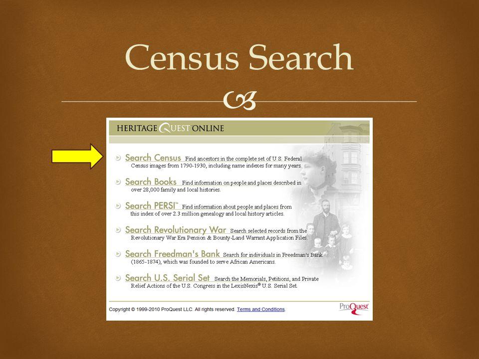  Census Search