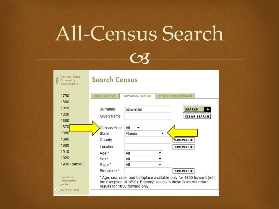  All-Census Search