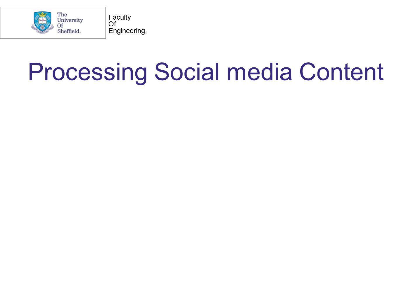 Faculty Of Engineering. Faculty Of Engineering. Processing Social media Content