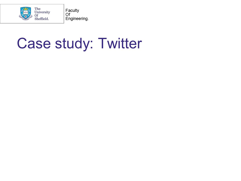 Faculty Of Engineering. Faculty Of Engineering. Case study: Twitter