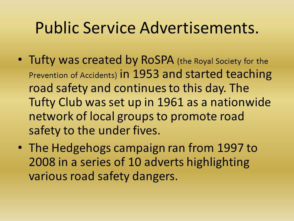 Public Service Advertisements.