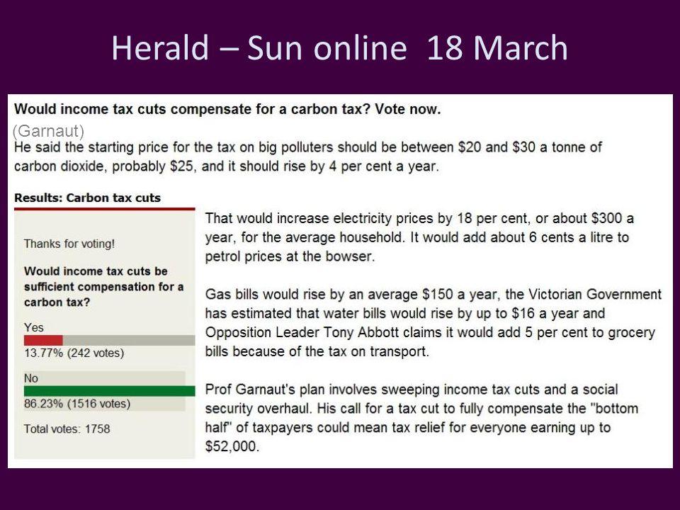 Herald – Sun online 18 March (Garnaut)